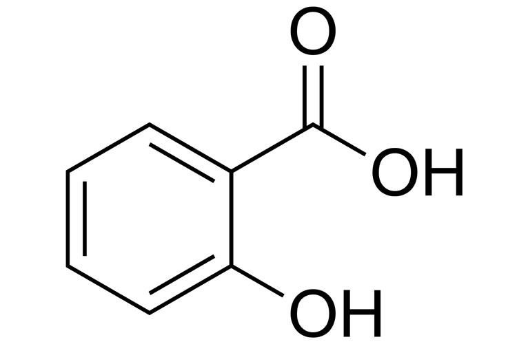 Схема диаграммы структуры салициловой кислоты